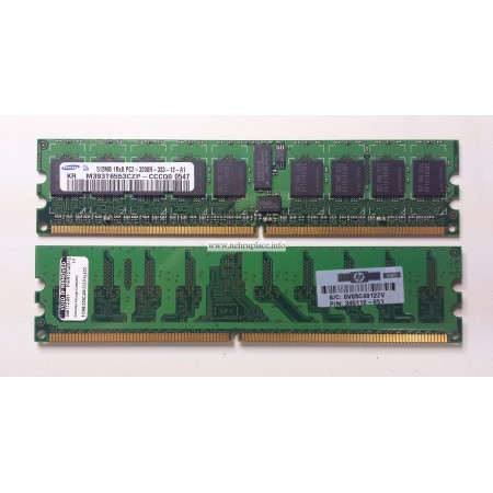343055-B21 1 GB, PC2-3200, 1Rx8, 333 DDR2 SDRAM DIMM memory kit