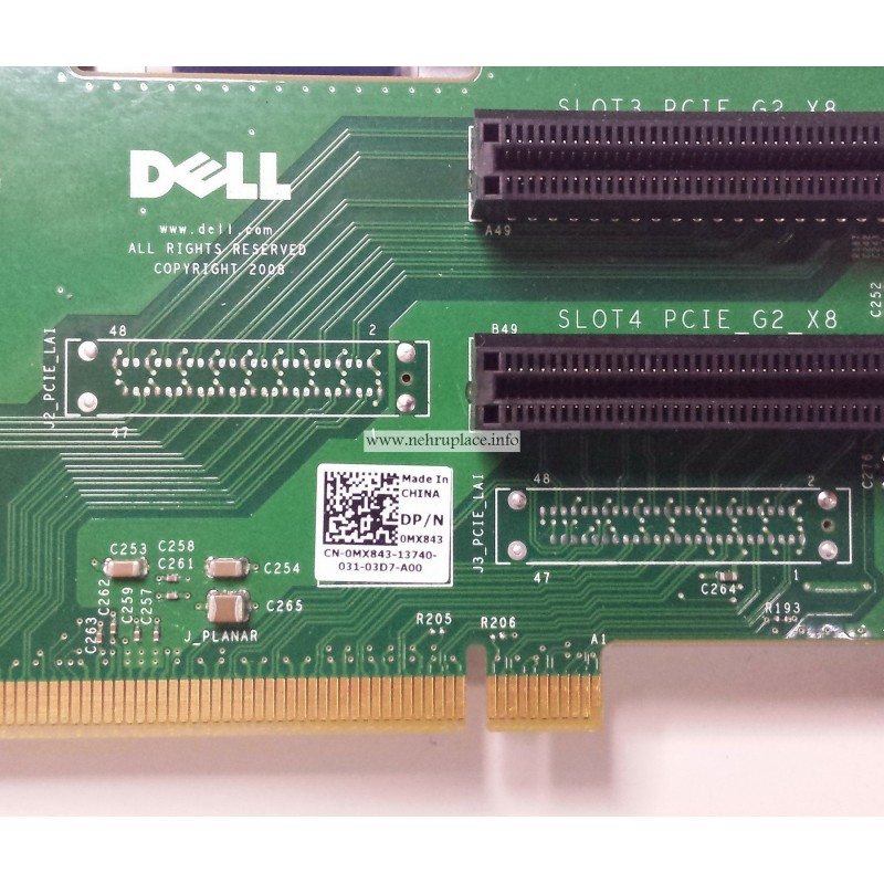 MX843 PCIe Riser for DELL PowerEdge R710