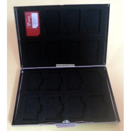 New Stainless steel 16 in1 SIM Cards Cards Holder Case